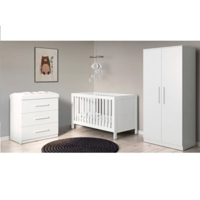Babyhoot Grantham 3 Piece Furniture Set - Brushed White