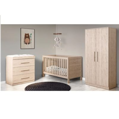 Babyhoot Grantham 3 Piece Furniture Set - Grey Oak
