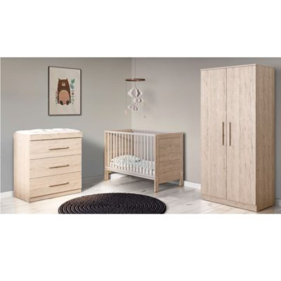 Babyhoot Grantham Mini 3 Piece Furniture Set Grey Oak