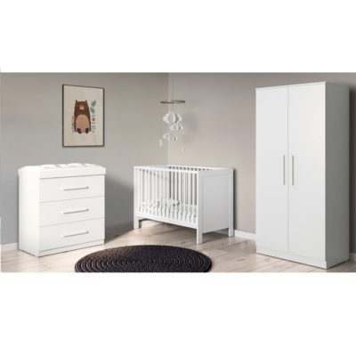 Babyhoot Grantham Mini 3 Piece Furniture Set Brushed White