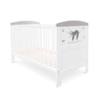 baby hoot style cot bed grey sloth