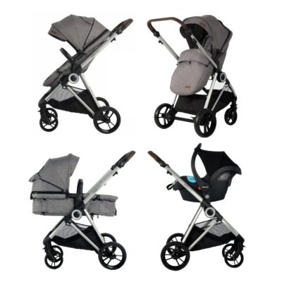Estilo Bebe Otter Travel System - Pebble Silver