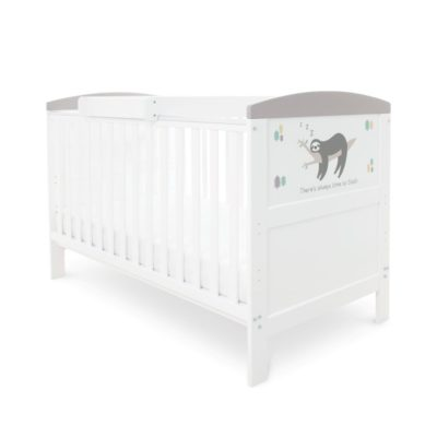 Babyhoot Style Cot Bed Sloth Grey
