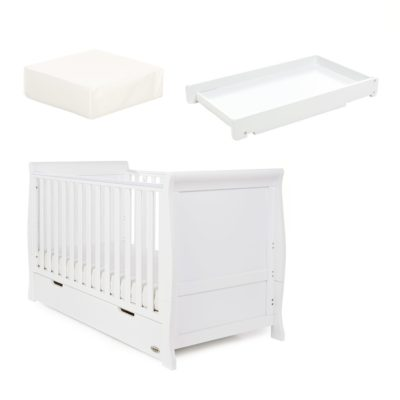 obaby stamford cot bed and changer set