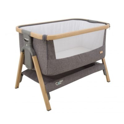 CoZee® Bedside Crib – Oak and Charcoal