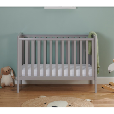 Babymore Ellie Dropside Cot Bed - Grey