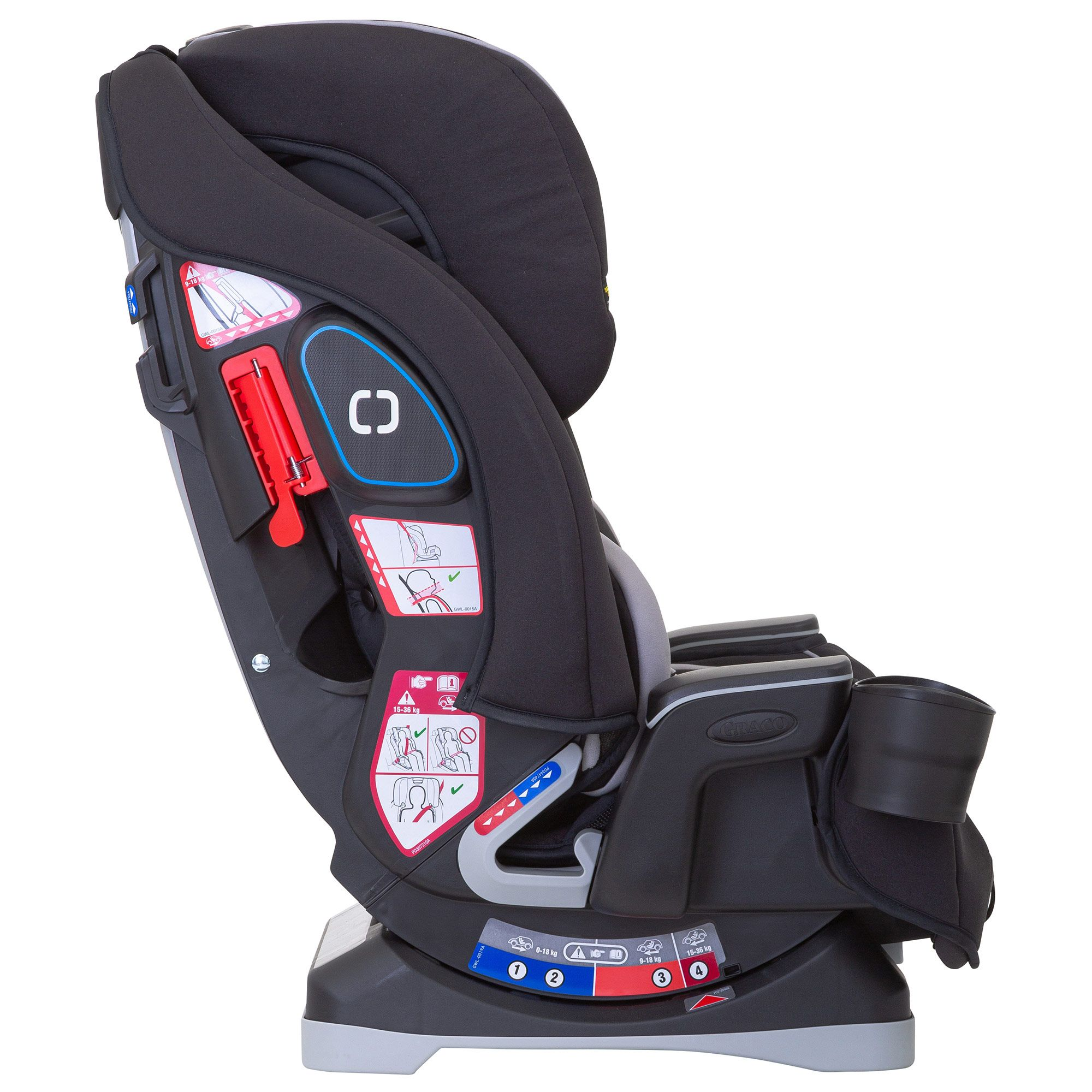 Graco Slimfit All-in-One Car Seat Group 0+//1//2//3 Black