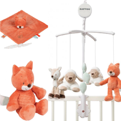 Nattou Bed Time Gift Set - Oscar