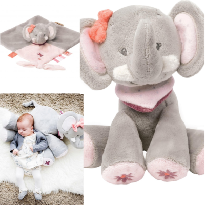 Nattou Large Cuddly Gift Set - Adele the Elephant