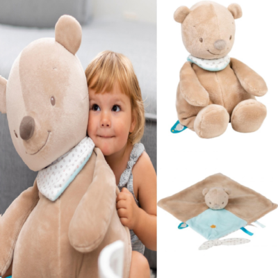 Nattou Large Cuddly Gift Set - Basile the Bear