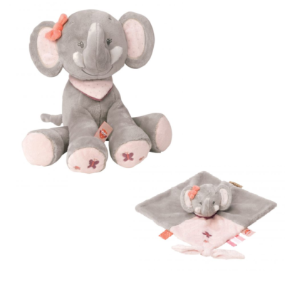Nattou Mini Cuddly Gift Set - Adele the Elephant