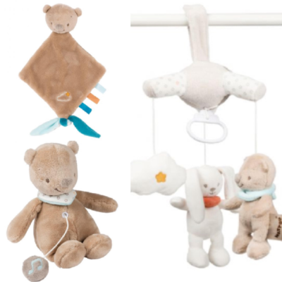 Nattou Mini Musical Gift Set - Basile the Bear
