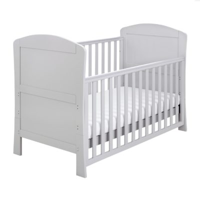 Babymore Aston Dropside Sleigh Cot Bed - Grey