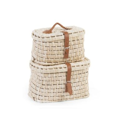 Childhome Corn Husk Suitcases - Small