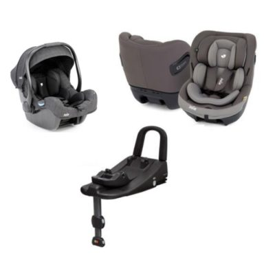 Joie i-Size Safe Car Seat Bundle - Grey