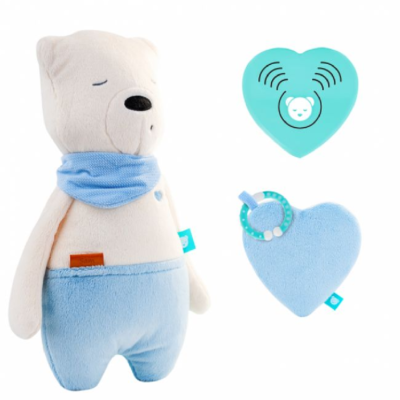 myHummy Daddy Bear with Sleep Sensory Heart - Sam