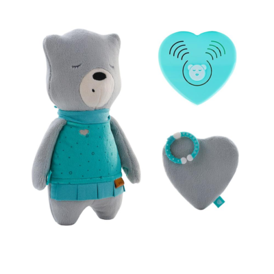 myHummy Mummy Bear with Sleep Sensory Heart - Lena