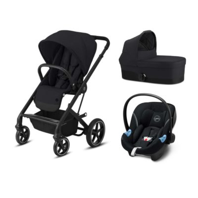 Cybex Balios S Lux Travel System - Deep Black and Black