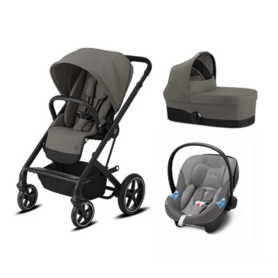 Cybex Balios S Lux 3-in-1 Travel System - Soho Grey and Black