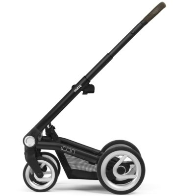 mutsy icon stroller frame black with brown grip