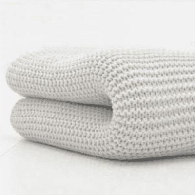 Cuddles Collection Cellular Pram Blanket Grey
