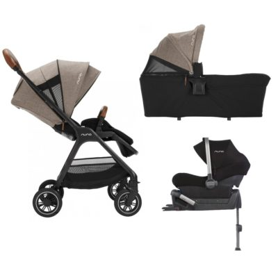 nuna triv 3 in 1 isofix travel system mocha