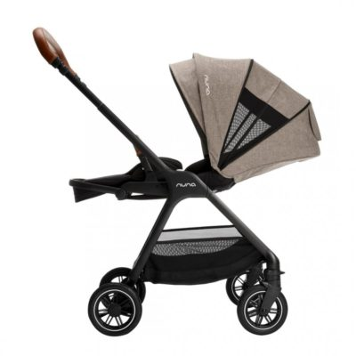 nuna triv stroller mocha side on