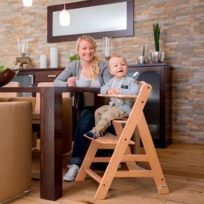 Hauck Alpha+ Natural Wooden Highchair