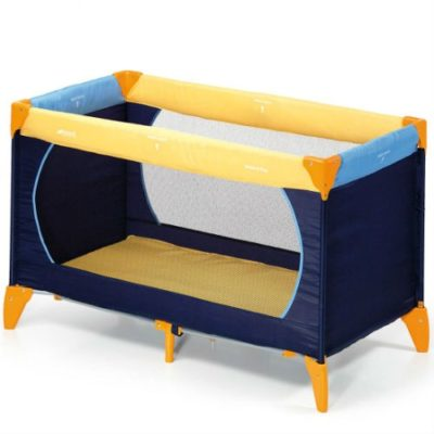 Hauck Dream n Play Yellow Blue Travel Cot
