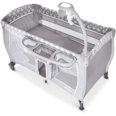 Hauck Teddy Grey Babycenter Travel Cot