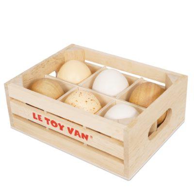 Le Toy Van Farm Eggs Half Dozen Crate