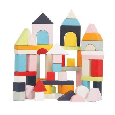 Le Toy Van 60 Building Blocks & Cotton Bag