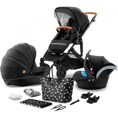 Kinderkraft Black Prime Travel System