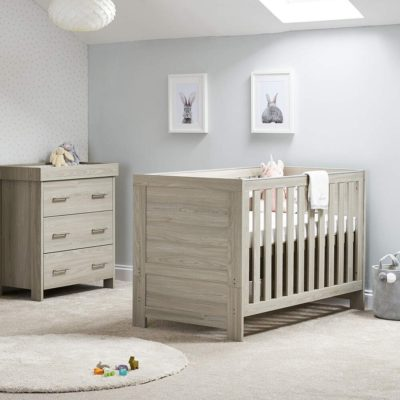 obaby nika 2 piece nursery room set grey wash