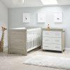 obaby nika 2 piece nursery room set grey wash white