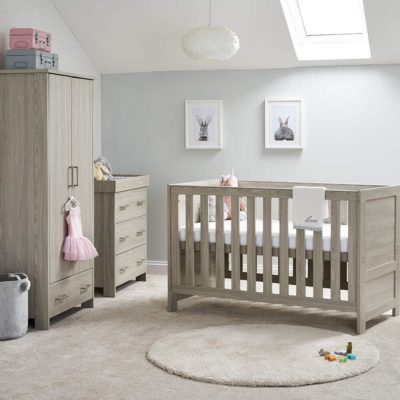 obaby nika 3 piece nursery room set grey wash 2
