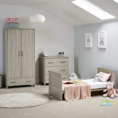 obaby nika 3 piece nursery room set grey wash 3
