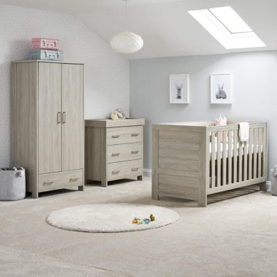 obaby nika 3 piece nursery room set grey wash