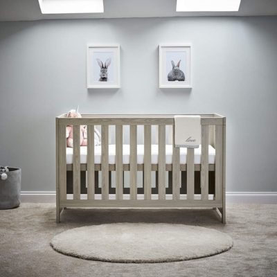 obaby nika cot bed grey wash