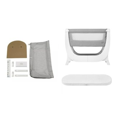 Shnuggle Air Bedside Crib Bundle - Dove Grey