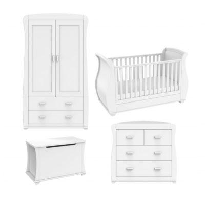 Babymore Bel 5 Piece Nursery Room Set - White