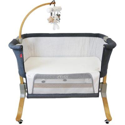 iSafe Cosy Cuddler Bedside Baby Coo Sleeping Crib - Dark Grey