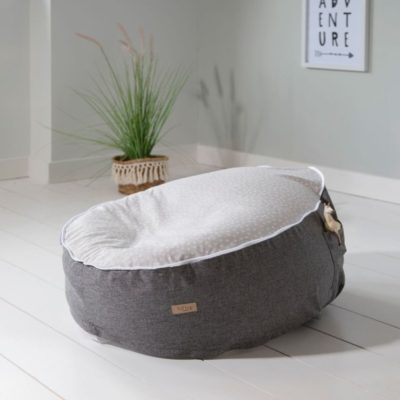 tutti bambini beanbag could grey 2