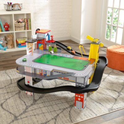 KidKraft Freeway Frenzy Raceway Set With Table