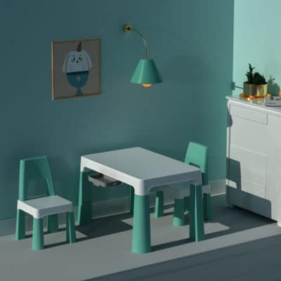 Liberty House Toys Green Hight Adjustable Table and Chairs