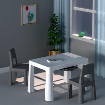 Liberty House Toys Grey Hight Adjustable Table and Chairs