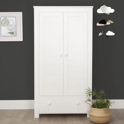 CuddleCo Aylesbury White 2 Door Double Wardrobe