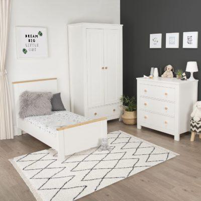 CuddleCo Aylesbury White/Ash 3 Piece Nursery Set