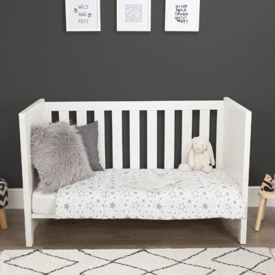 CuddleCo Aylesbury White Cot Bed