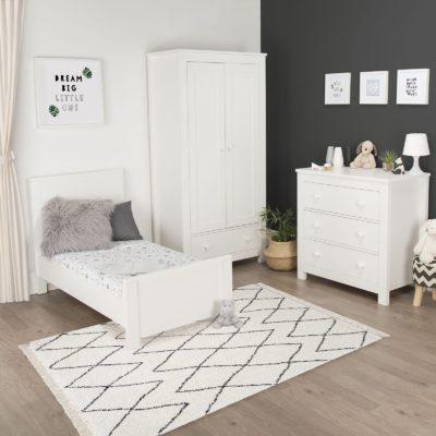 CuddleCo Aylesbury White 3 Piece Nursery Set